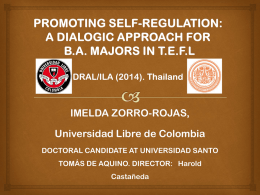 promoting self-regulation: a dialogic approach for ba majors in tefl