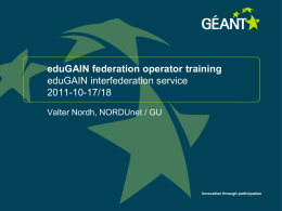 Introduction to the eduGAIN service