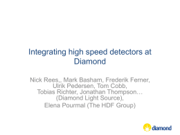 Integrating high speed detectors at Diamond