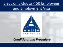 E-quota and Employment Visa
