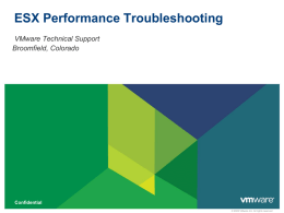 ESX Performance Troubleshooting
