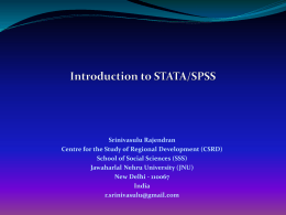 Introduction to STATA/SPSS