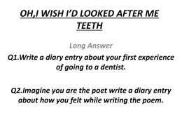 OH,I WISH I*D LOOKED AFTER ME TEETH - e-CTLT