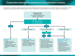 Preoperative Haemoglobin Assessment and Optimisation Template