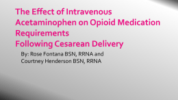 The Effect of Intravenous Acetaminophen on Opioid