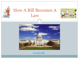 I`m Just a Bill PowerPoint