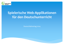 Spielerische Webapplikationen