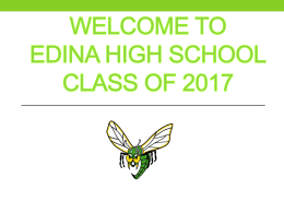 Transition to edina high school