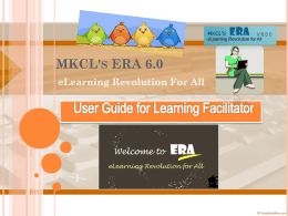 Learning Facilitator`s Guide - MS-CIT ERA 6.0