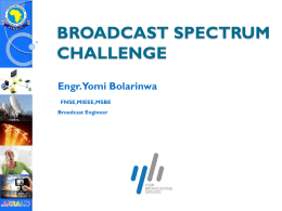 As the broadcast spectrum