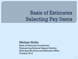 BOE Pay Item Selection
