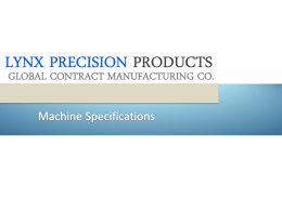 PowerPoint **** - Lynx Precision Products
