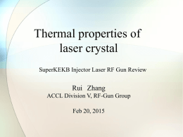 C-1 Thermal properties of laser crystal