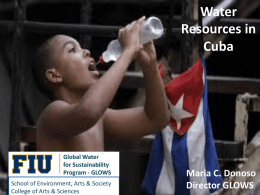 Water Resources in Cuba