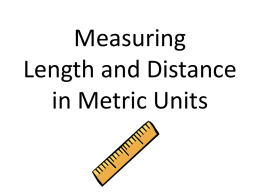 Measuring Length - River Dell Regional School District