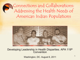 Addressing the Health Needs of American Indian