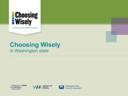Choosing Wisely PowerPoint presentation slide deck