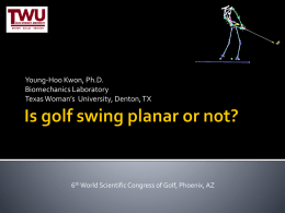 Is golf swing planar or not?