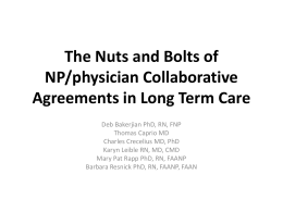 The Nuts and Bolts of NP/MD Collaborative Agreements in Long