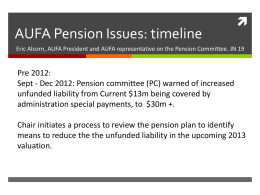 AUFA Pension Issues - Acadia University Faculty Association