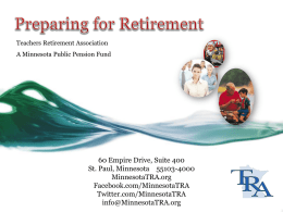 Preparing for Retirement - Minneapolis Federation of Teachers