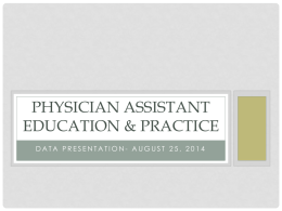 Physician Assistant - Legislative Coordinating Commission