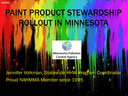 Paint Product Stewardship Roll