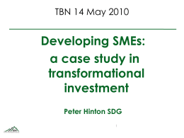 SME finance vs. Microfinance - Transformational Business Network