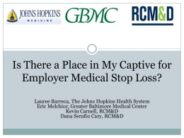Employer Medical Stop Loss - Barreca - Cary - Carnell