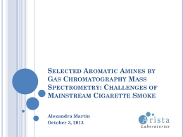 Selected Aromatic Amines by Gas Chromatography Mass