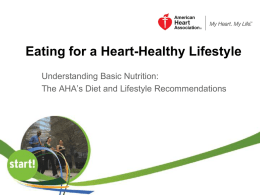 Start! Eating Healthier - American Heart Association