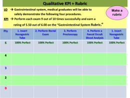Qualitative KPI + Rubric LO  Gastrointestinal system, medical
