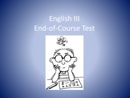 English III End-of