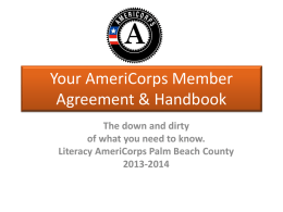 Your AmeriCorps Member Agreement