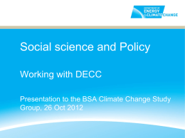 Working with Science and Policy Presentation