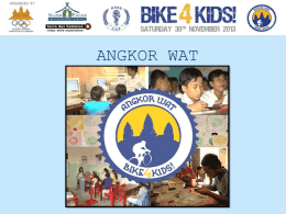 Introducing the Angkor Wat Bike4Kids! to kids!