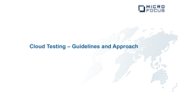 Cloud Testing - Future of Testing