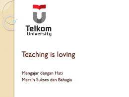 Teaching is Loving Mahasiswa - BPP