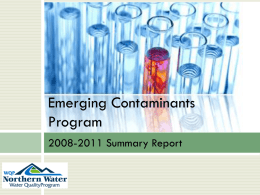Emerging Contaminants Program