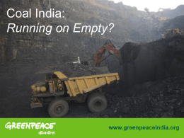 Coal India: Running on Empty, by Ashish Fernandes