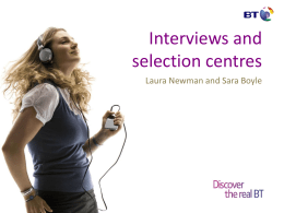 Interviews and Selection Centres (BT)