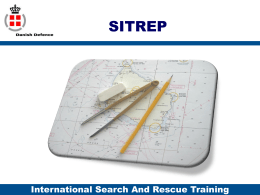 Basic SAR Theory Search planning