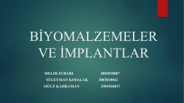 İmplant ve Biyomalzemeler