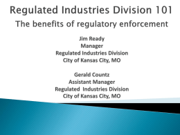 Regulated Industries Divison – KCMO