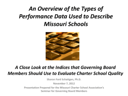 Data Presentation - Missouri Charter Public School Association