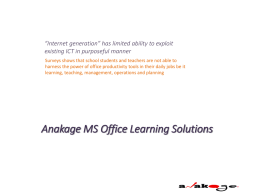 Anakage MS Office Learning Solutions