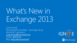 What`s New in Exchange Server 2013
