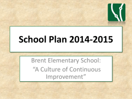 2014-2015 School Plan - Brent Elementary Website