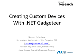 Getting started with Microsoft .NET Gadgeteer