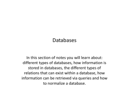 Databases in MS